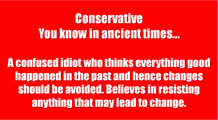 1 Conservative