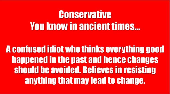 1 Conservative