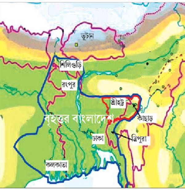 greater bangladesh map bangla
