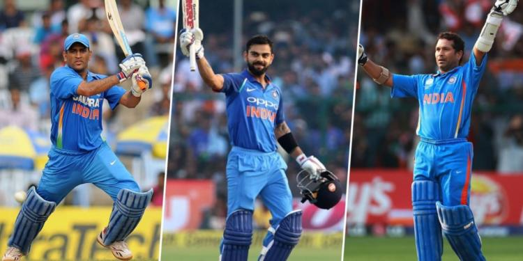 Image result for virat and dhoni sachin