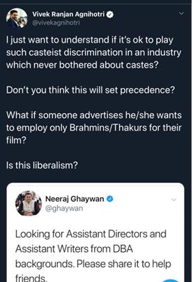 Vivek agnihotri, Neeraj Ghaywan, Article 15