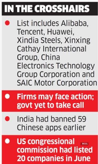 India, China, PLA, Chinese Companies, Huawei, Tencent, Alibaba
