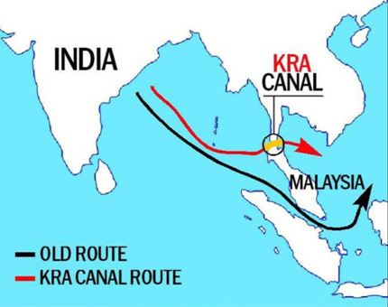 Kra Canal, Thailand, China, BRI, Malacca strait,